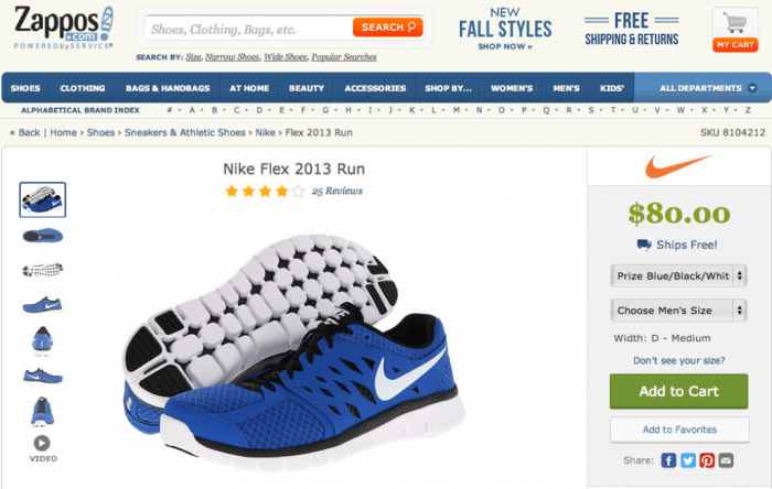 vender zapatos en línea