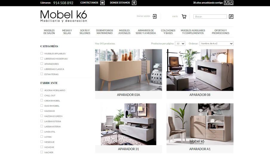 venta de muebles por internet